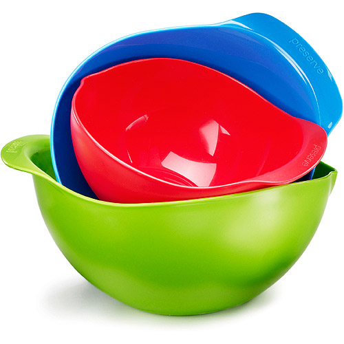 Preserve Multi-Color Mixing Bowls, Set of 3