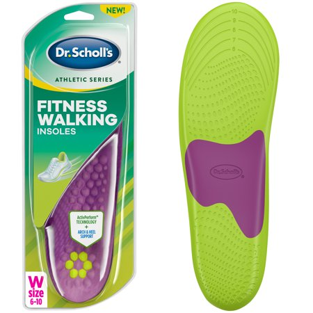Dr. Scholl's Athletic Series Fitness Walking Insoles for Women, Size