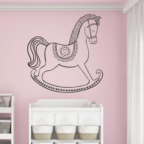 Harriet Bee Brunswick Rocking Horse Wall Decal