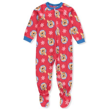 Rudolph the Red-Nosed Reindeer Boys' 1-Piece Footed Pajamas