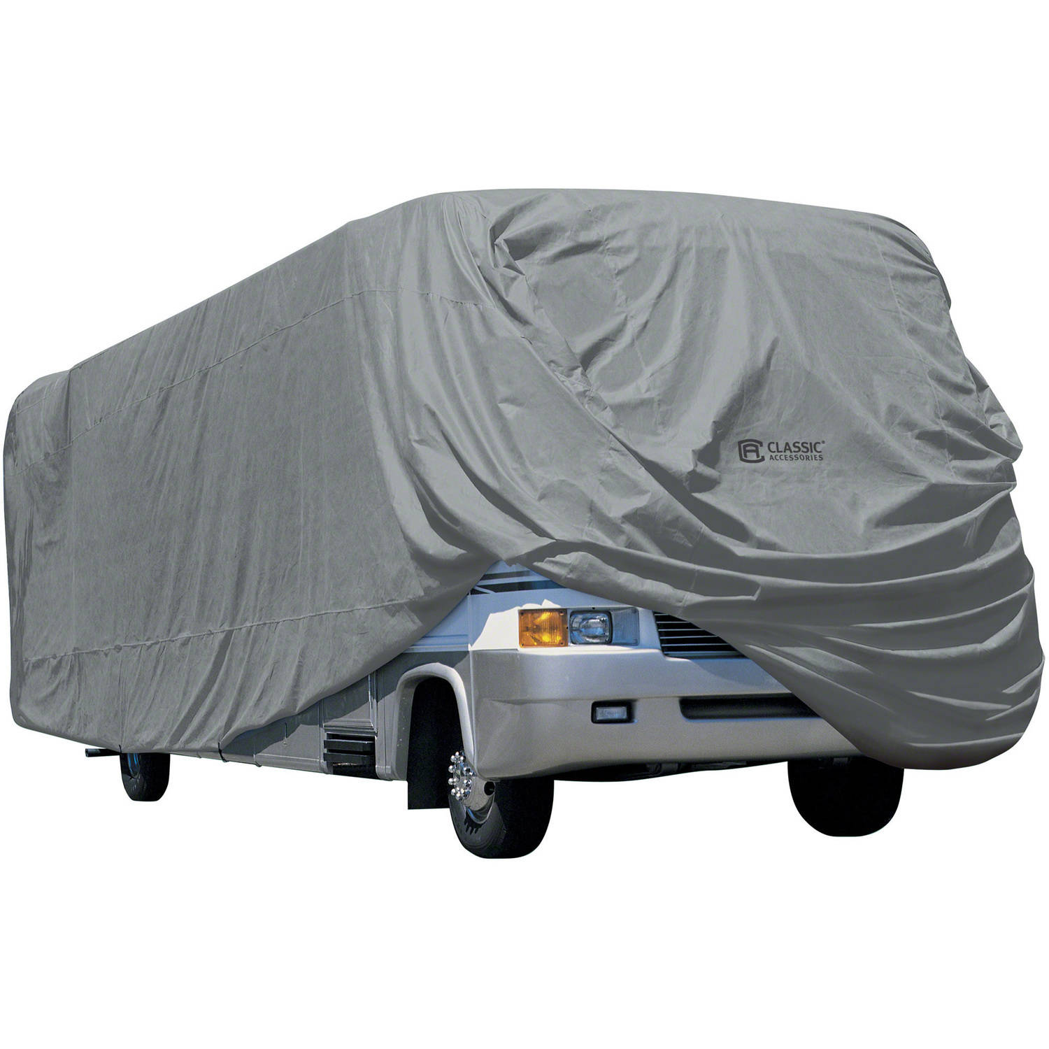 Classic Accessories OverDrive PolyPRO 1 Class A RV Cover, Fits 20' - 40' RVs - Breathable and Water Repellant RV Cover