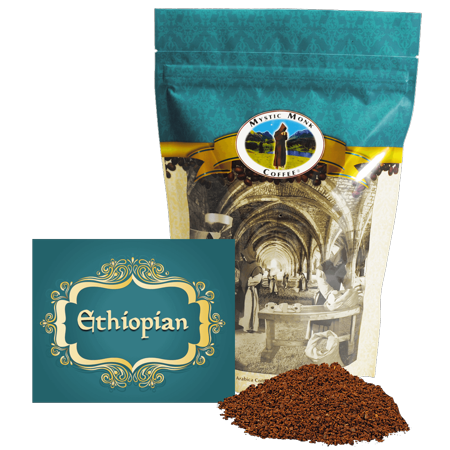 Mystic Monk Coffee - Ethiopian - Mild Roast Ground Coffee