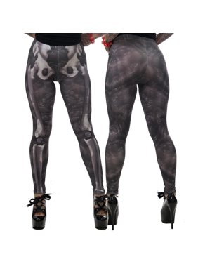 d165b93e4989ad Product Image Women's Kreepsville 666 Skeleton Bone Leggings Pants Gothic  Horror Fashion - Large