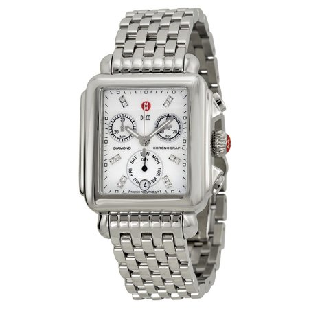 Michele Deco Chronograph Mother of Pearl Dial Ladies Watch MWW06P000014
