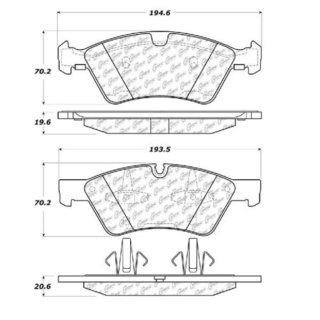 Go-Parts OE Replacement for 2017-2017 Mercedes-Benz G65 AMG Front Disc Brake Pad Set for Mercedes-Benz G65 AMG