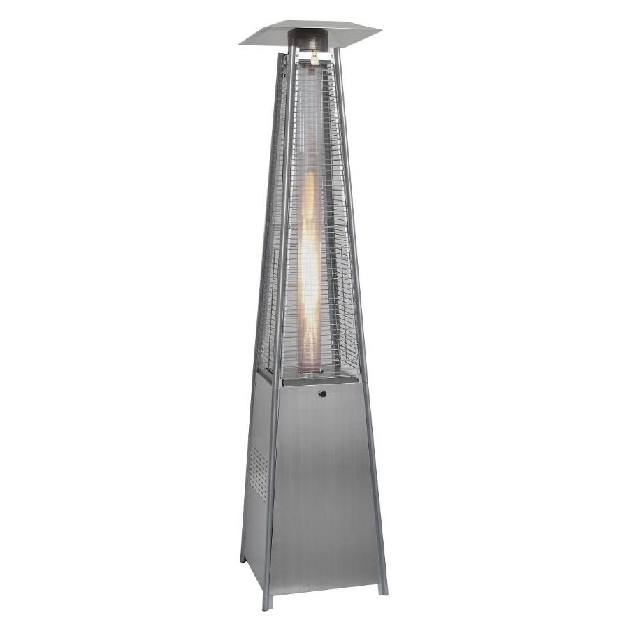 Hanover Outdoor 7-Ft. 42,000 BTU Pyramid Propane Patio Heater in Stainless Steel by Hanover Outdoor