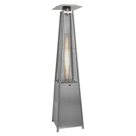 Hanover Outdoor 7-Ft. 42,000 BTU Pyramid Propane Patio Heater in Stainless  Steel - Hanover Outdoor 7-Ft. 42,000 BTU Pyramid Propane Patio Heater In
