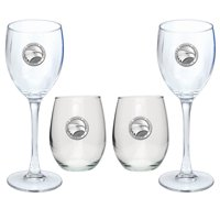 Georgia Southern University Goblet Set Stemmed and Stemless Wine Set