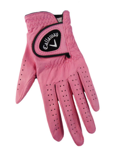 New Callaway Opti-Color Leather Pink Golf Glove Women's Left Small (S) by CALLAWAY
