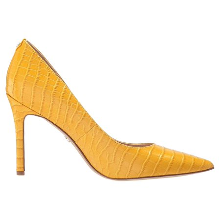 Sam Edelman Hazel Dijon Yellow Kenya Croco Embossed Leather