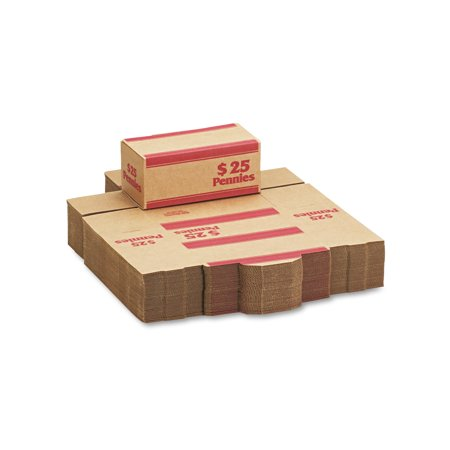 mmf industries corrugated cardboard coin transport box lock red 50 boxes carton. Black Bedroom Furniture Sets. Home Design Ideas