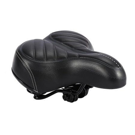 Bike Seat Cushion Soft Pad Saddle Seat Wide Big Bum Sprung Fits Stationary Bikes, Indoor Cycling,Mountain Bike