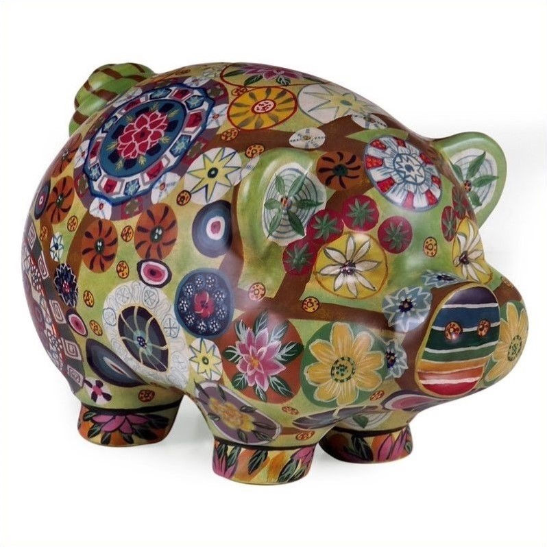IMAX Home 18922 Folkart Piggy Bank