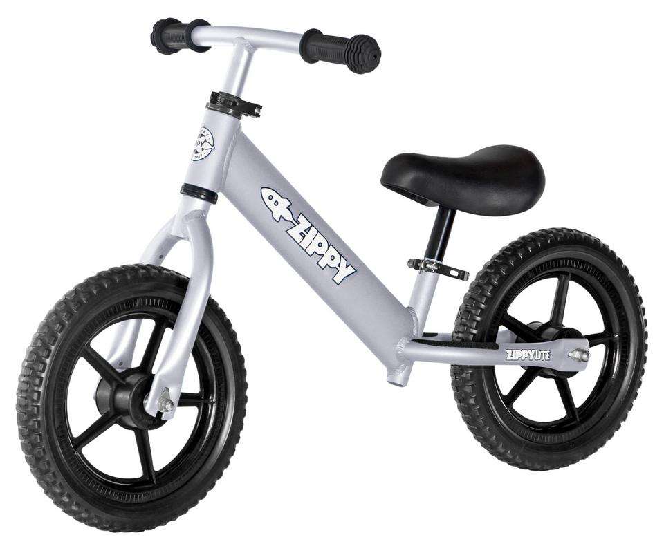 """ZIPPY LITE Training Beginners Running Balance Bike - Lightweight, 11"""" wheels, No Pedals - Aluminum Bicycle For Toddlers & Kids Ages 1.5 to 5 Years - Silver"""
