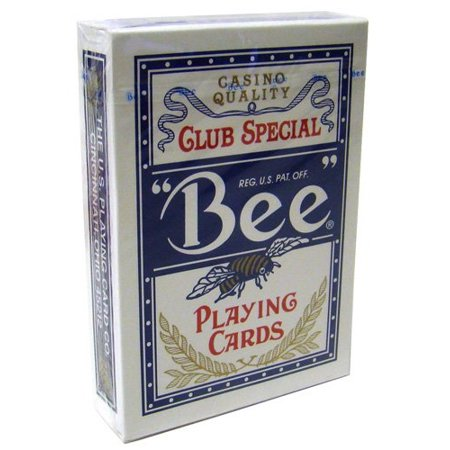 Bee No.92 Standard Index Poker Playing Cards - 1 Sealed Blue (Index Bee Poker)