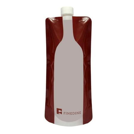 Finedine Plastic Reusable Foldable Flexible Wine Bag Flask