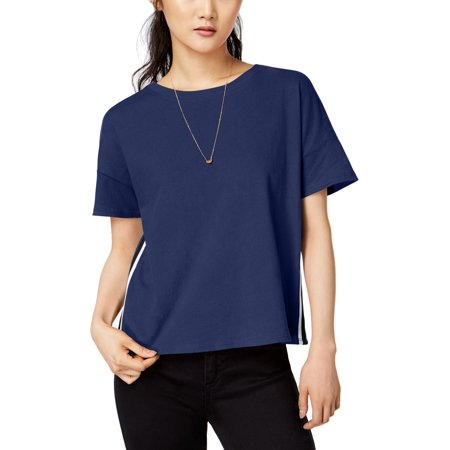 Hippie Rose Womens Cotton Cropped T-Shirt Blue S Cotton Hippie Shirt