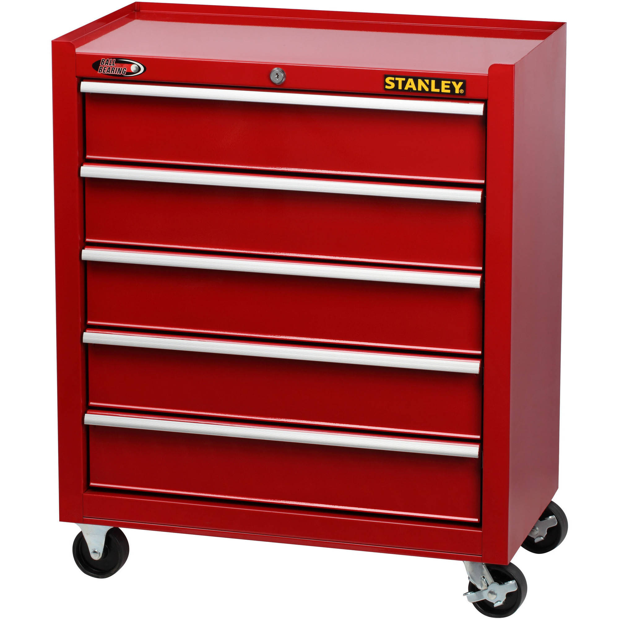 Stanley 5 Drawer Cabinet, Red