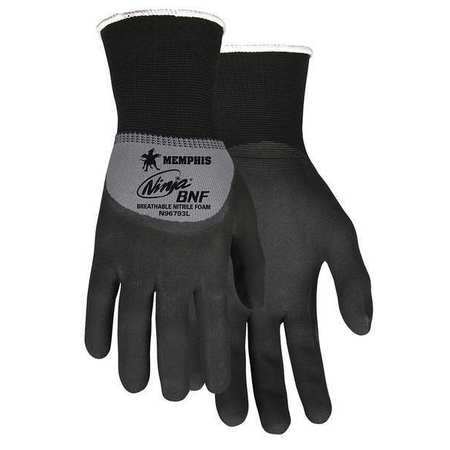 MCR SAFETY Coated Gloves,3/4 Dip,XS,10-3/4