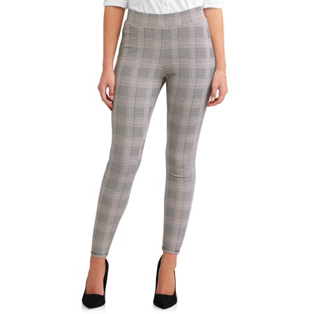 Time and Tru Women's Skinny Zip Back Ponte Pant for $<!---->