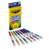 Crayola Fine Line Washable Markers, 8 Colors