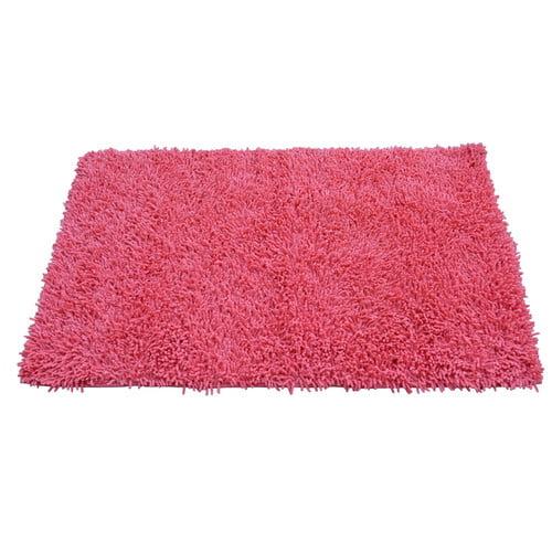 Tache Home Fashion Chenille Salmon Pink Area Rug