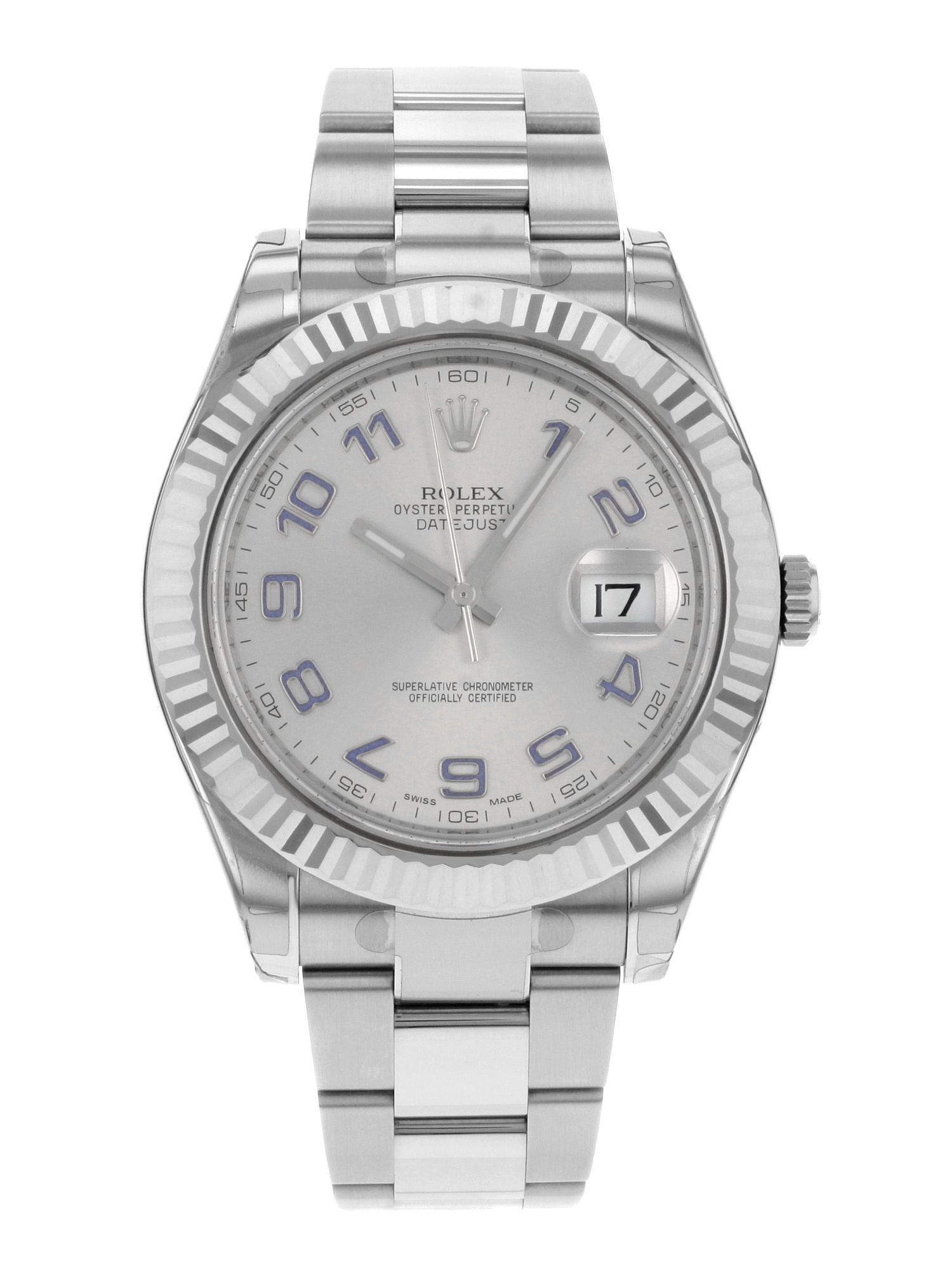 Rolex Datejust II 116334 GAO Steel 18k White Gold Automatic Mens Watch