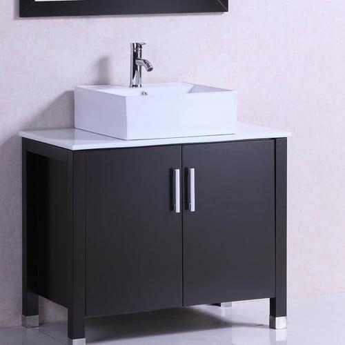 Belvedere Bath Modern Freestanding 36'' Single Bathroom Vanity Set by