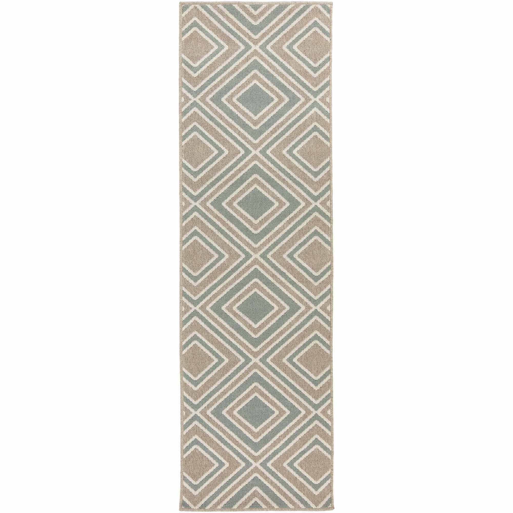 Art of Knot Coronado Machine Made Medallion Scroll Indoor/Outdoor Runner, Taupe