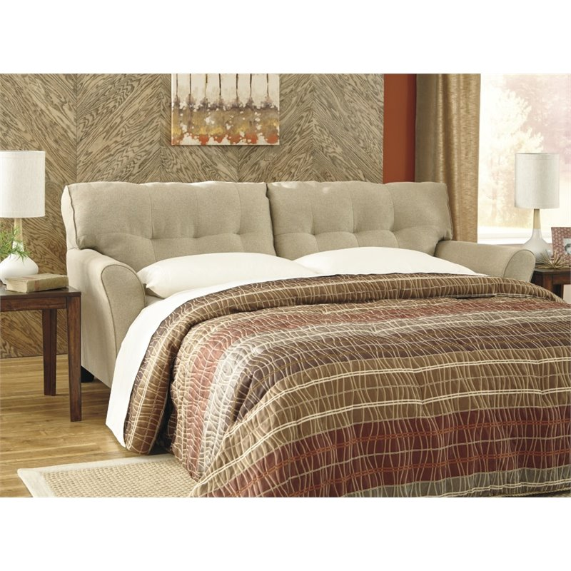 Ashley Laryn Queen Sleeper Sofa Bed in Khaki Walmart