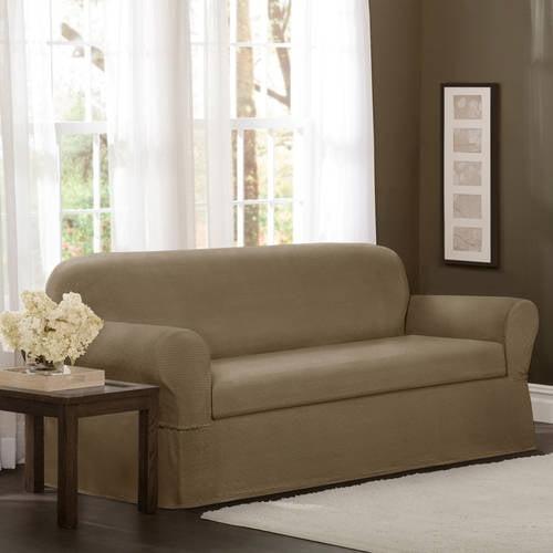 Maytex Stretch Torie 2 Piece Sofa Furniture Cover Slipcover