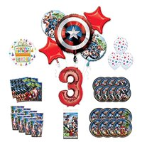 Mayflower Products Avengers 3rd Birthday Party Supplies and 8 Guest Balloon Decoration Kit