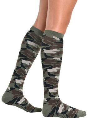 e7e8e9598d7 Product Image Womens Camo Socks Knee High Military Army Costume Accessory  Soxs