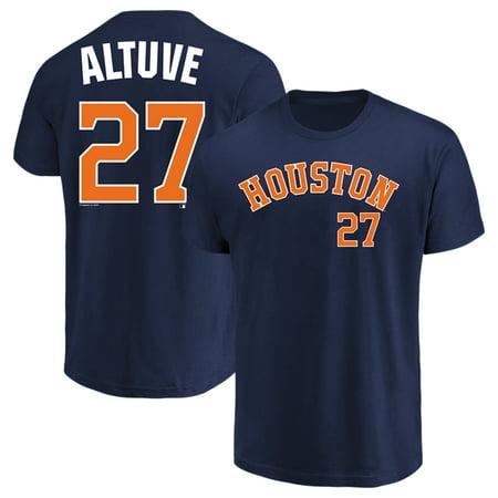 (Men's Majestic Jose Altuve Navy Houston Astros Name & Number T-Shirt)