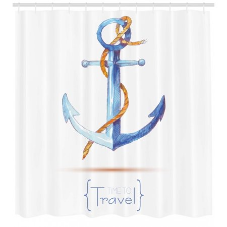 Anchor Shower Curtain Watercolors Anchor And Rope Time To Travel