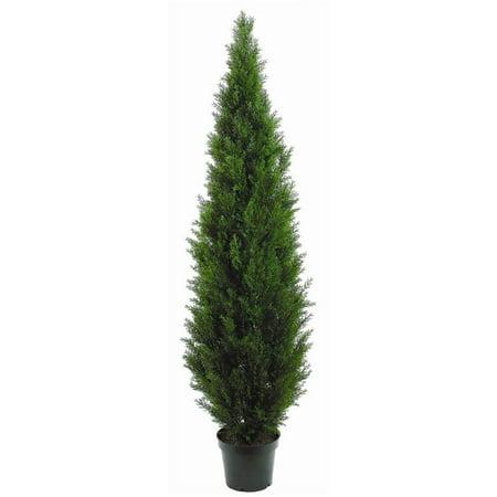 "Image of 84"" Cedar Topiary w Green Pot"