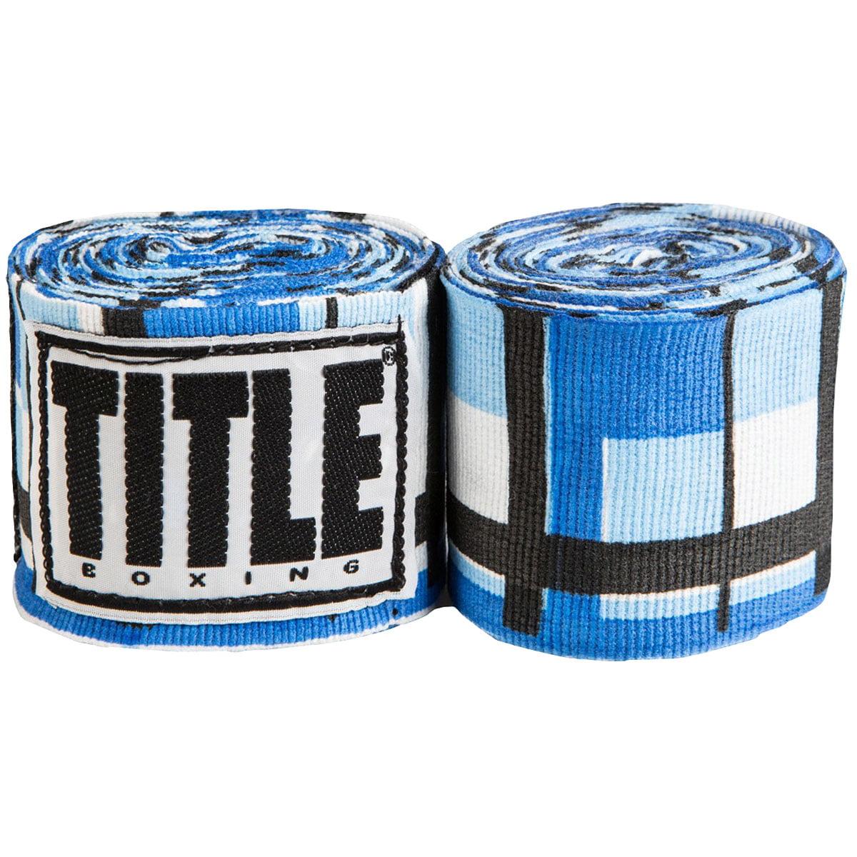 "Title Boxing 180"" Select Semi-Elastic Mexican Style Handwraps - Blue Plaid"