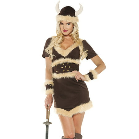 Viking Maiden Womens Norris Barbarian Warrior Halloween Costume - Viking Princess Warrior