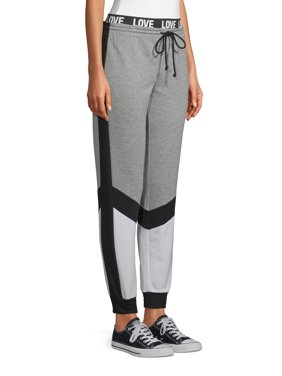 Juniors' No Boundaries Colorblock Graphic Waistband Jogger