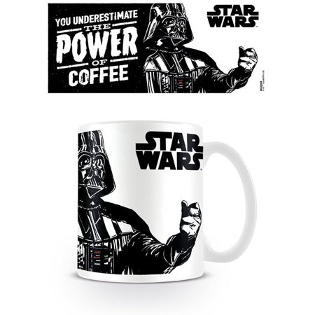 Star Wars - Ceramic Coffee Mug / Cup (Darth Vader - You Underestimate The Power Of Coffee) - Darth Vader Cut Out