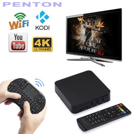 [Free Wireless Mini keyboard] Quad Core MTQ Smart TV BOX Mini PC Streaming Media Player with KODI(XBMC) Streamer 1GB/8GB, Fully Loaded,Google Android 4.4 KitKat,CPU Amlogic S805, 1.5 GHz