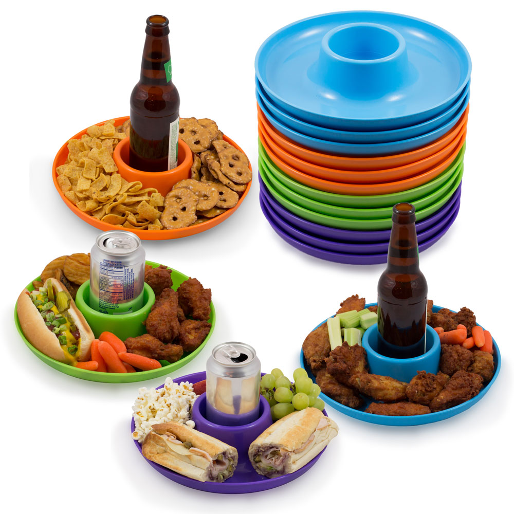 Great Plate Spring Color Food Beverage Plate, 12 Pack