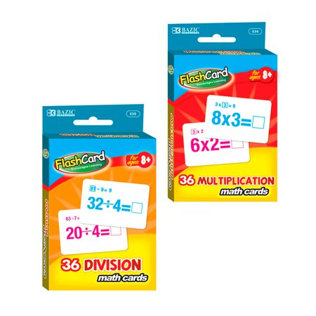 Set of 2 Learning Flash Cards Multiplication Division Numbers Math Educational ! - Math Games 2
