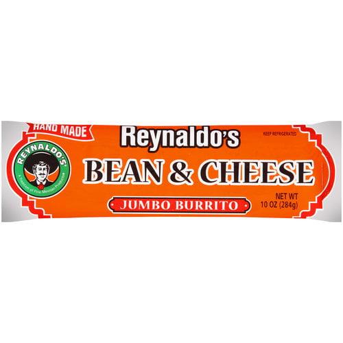 Reynaldo's Bean & Cheese Jumbo Burrito, 10 oz