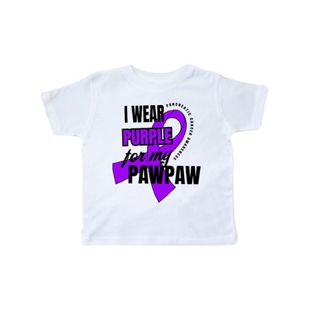 Purple For Cancer (I Wear Purple For My Pawpaw Pancreatic Cancer Awareness Toddler)