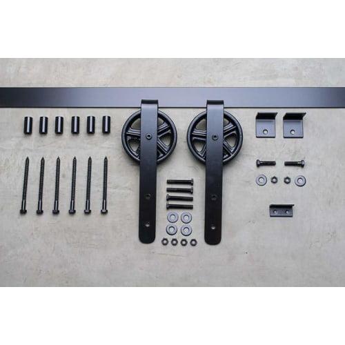 Delaney BD508 5000 Series 96 Inch Wagon Wheel Barn Door Hardware by Delaney