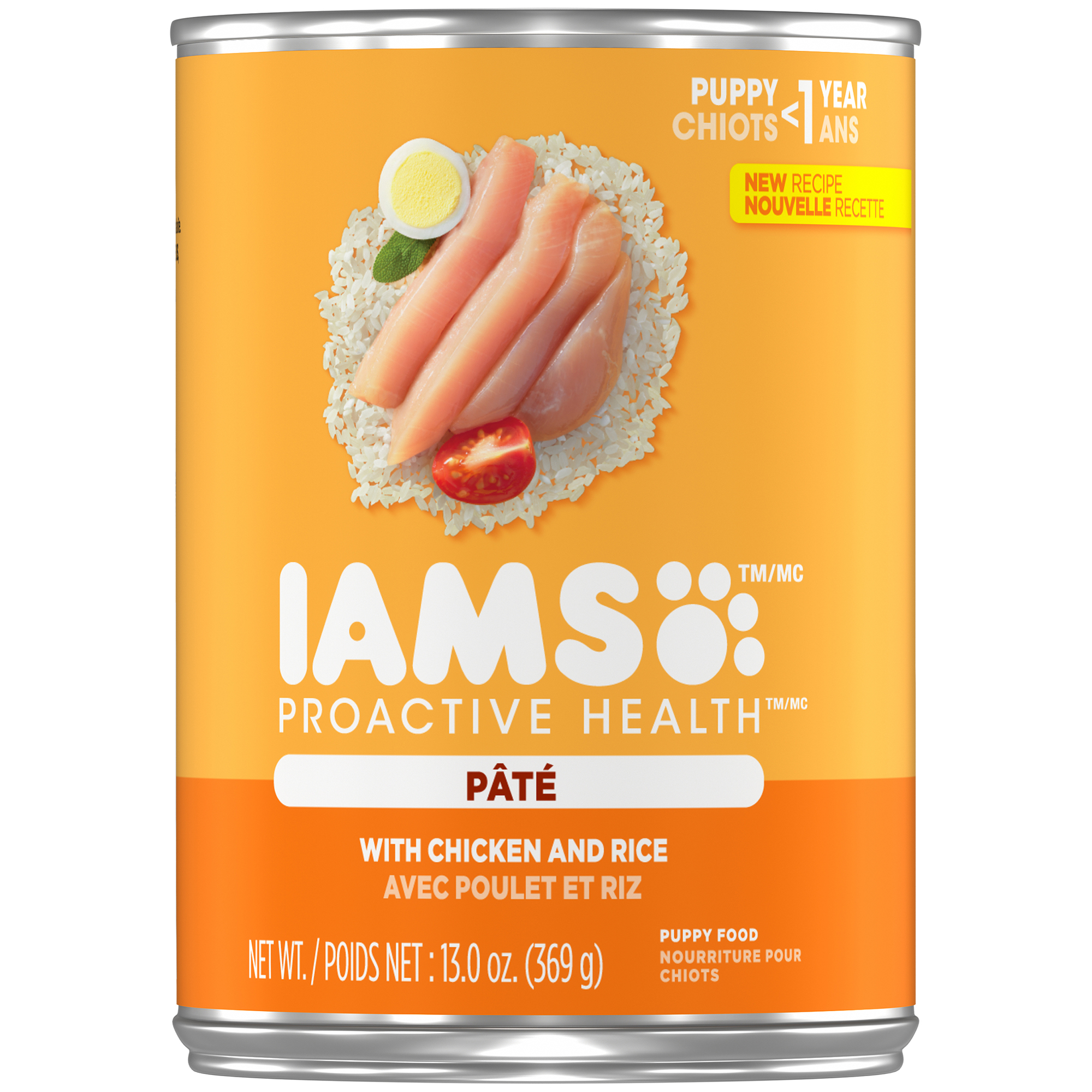 IAMS PROACTIVE HEALTH PUPPY With Chicken and Rice Pate Wet Dog Food 13.0 Ounces