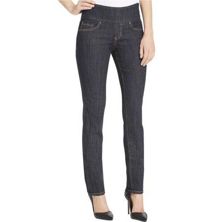 Jag Jeans Womens Dark Wash Pull On Straight Leg Jeans