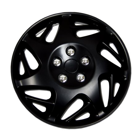 1.5 Focal Finish (Set of 4  Matte Black Hubcaps 15
