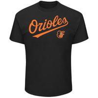 Men's Majestic Black Baltimore Orioles Bigger Series Sweep T-Shirt Assorted, Item may Vary